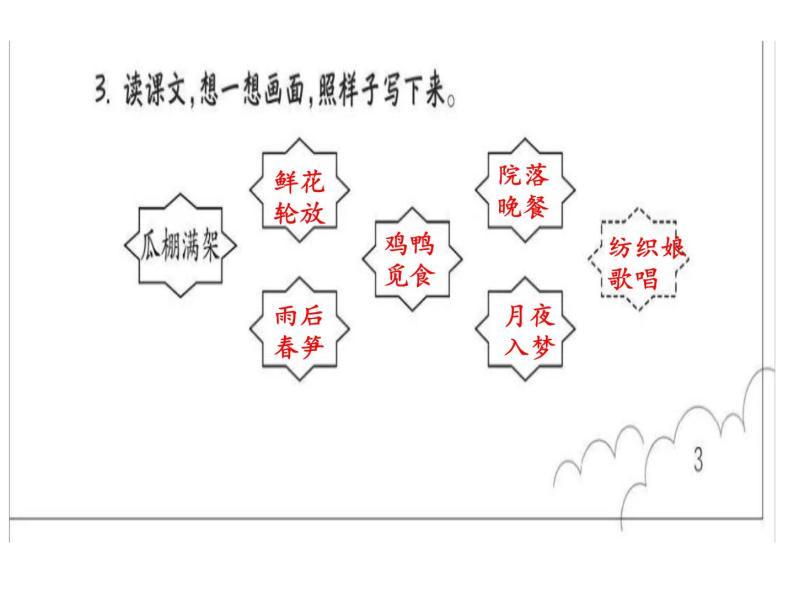 小学语文四年级下册第一单元作业本答案ppt作业本08