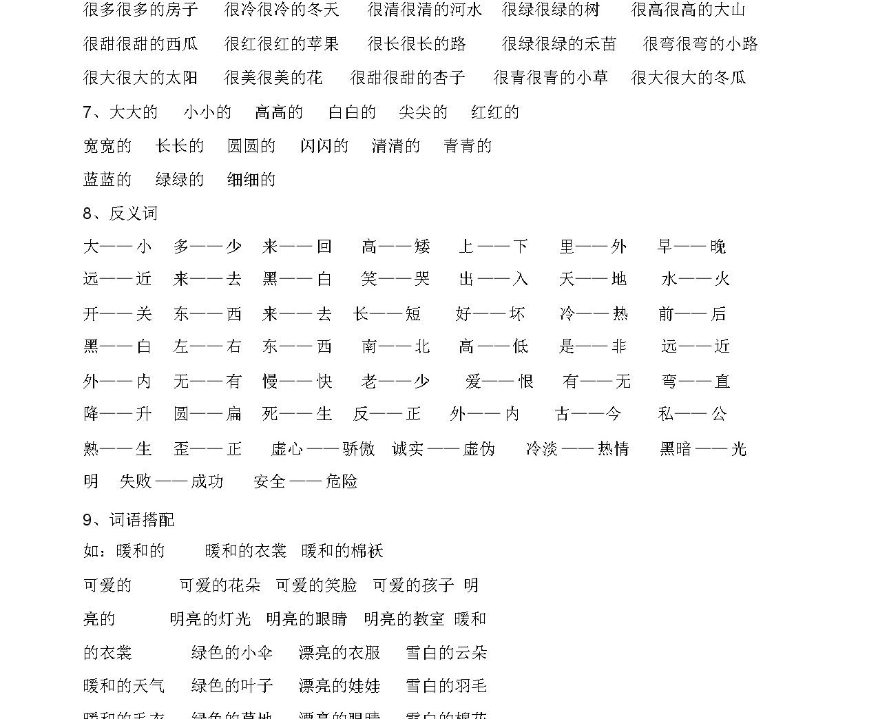人教版 一年級語文上冊 知識點整理-8頁04
