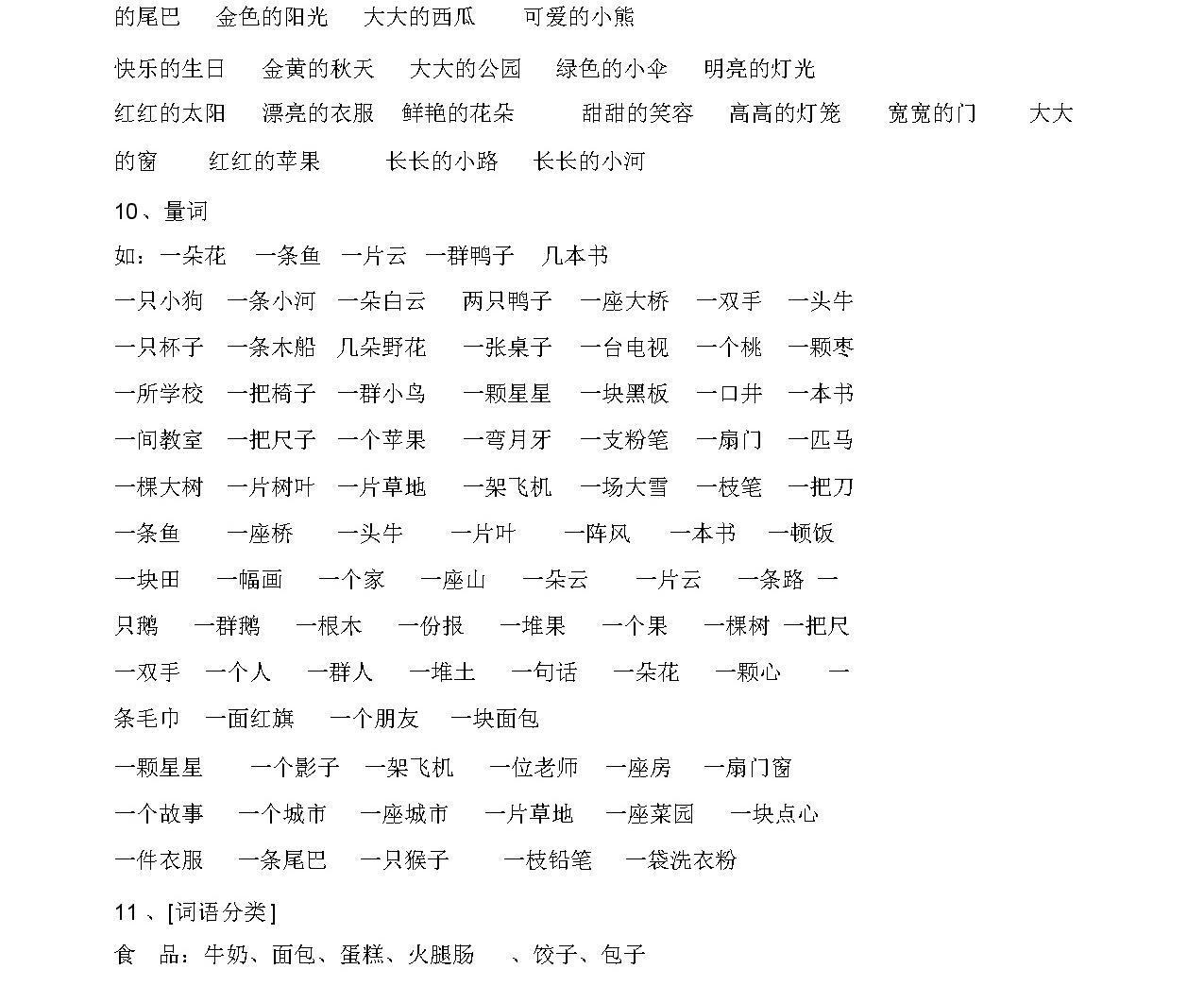人教版 一年級語文上冊 知識點整理-8頁05