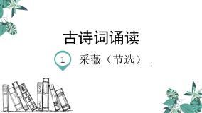 小學語文人教部編版六年級下冊1 采薇(節選)備課課件ppt