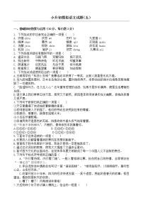 部編版名校沖刺2021年小升初語文模擬試題(五)(含答案)