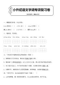 統編版小升初語文字詞專項復習卷含答案 (7)