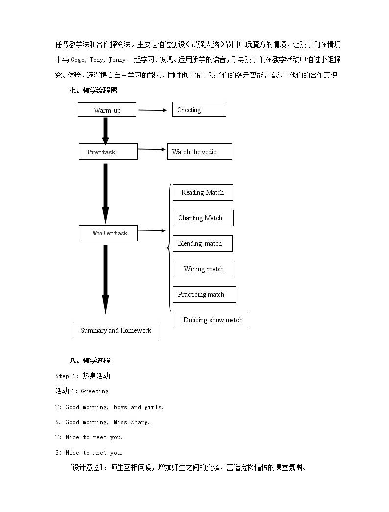 四年級上冊英語教案-Unit 5  My body 廣東開心英語(粵人版)02