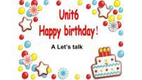 三年級上冊《Happy birthday》partA優質課PPT課件