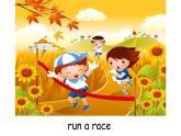 三年級下冊英語課件-Lesson 5 Let's run a race  Let's learn 科普版.