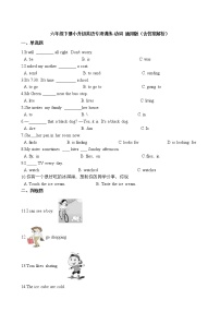 六年級下冊英語試題-小升初英語專項訓練 動詞通用版(含答案解析)