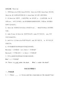 【小升初沖刺】英語專項復習:第3部分 句法 2、there be句型—拔高試卷