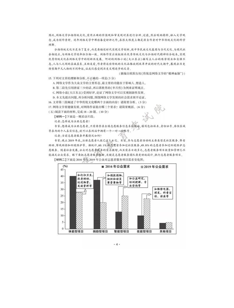 2020年福建省中考语文试卷及答案04