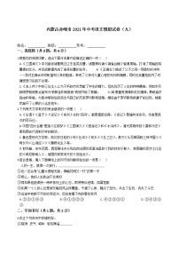 2021年內蒙古自治區赤峰市中考語文模擬試卷(九)(word版 含答案)