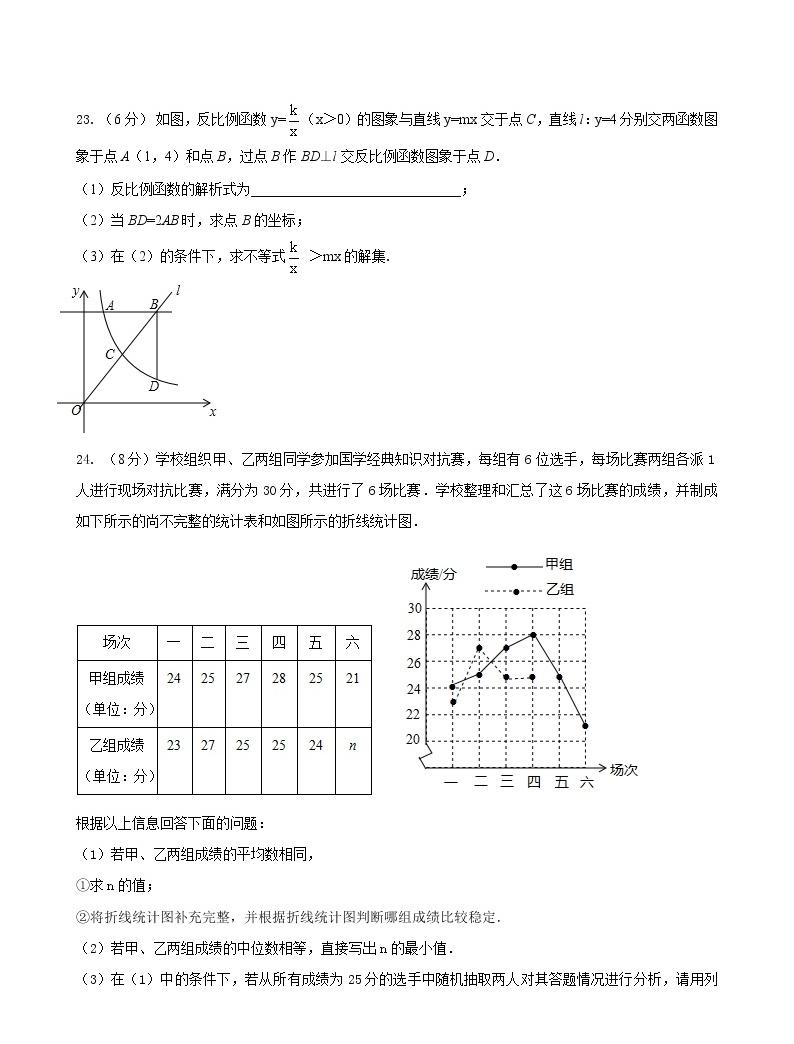 大庆市中考二数学学试题04
