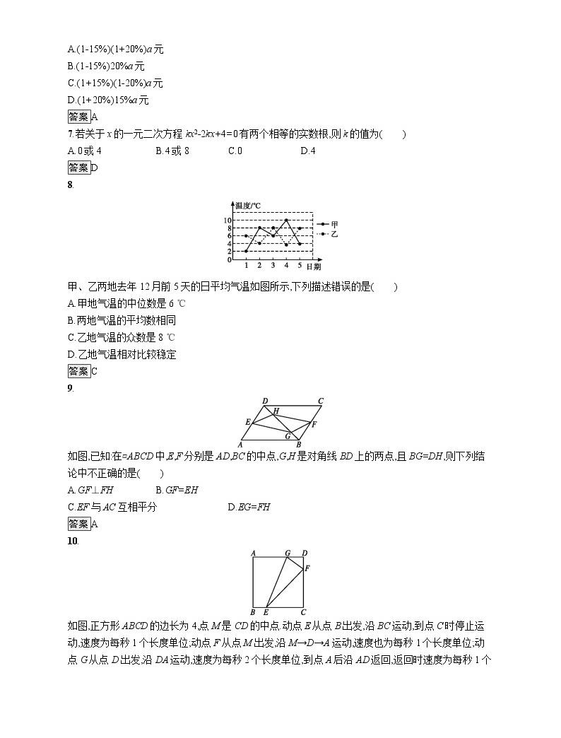 2020年安徽省初中数学学业水平模拟考试02