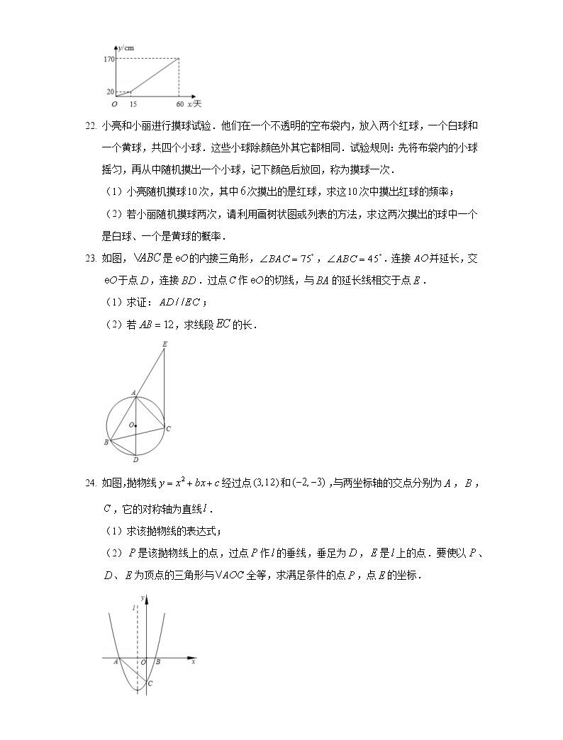 2020年陜西省中考數學試卷05