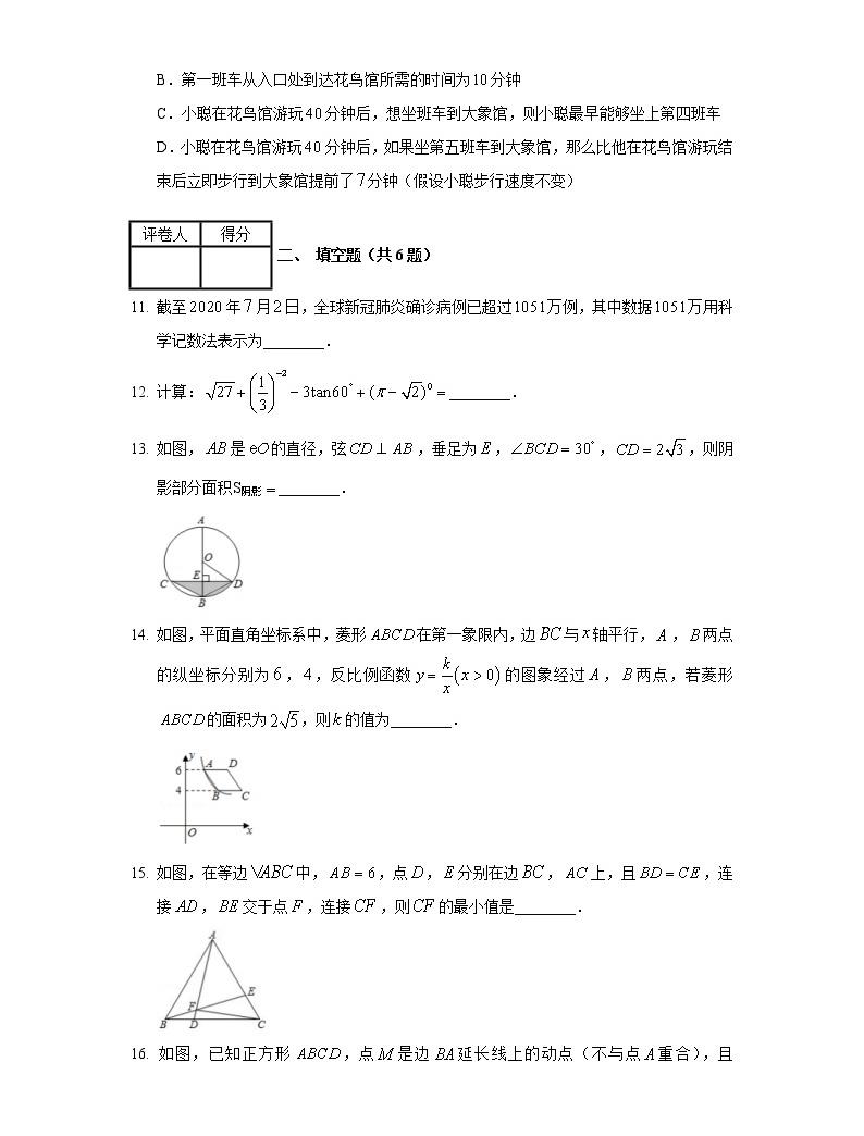 2020年內蒙古鄂爾多斯市中考數學試卷04