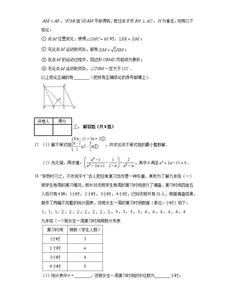 2020年內蒙古鄂爾多斯市中考數學試卷05