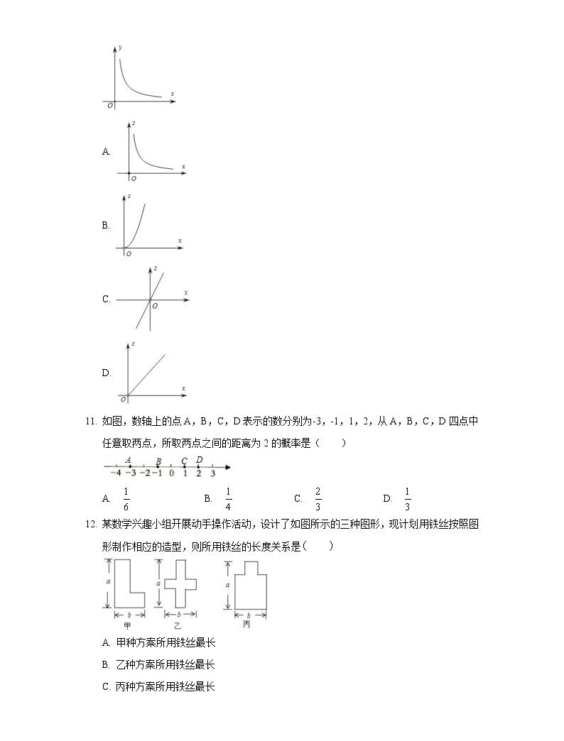 2019年河北省中考數學模擬試卷(一)03