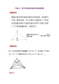 專題28  角平分線和高線的夾角模型問題-2021年中考數學二輪復習經典問題專題訓練