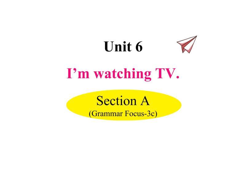 Unit 6 I'm watching TV Section A(Grammar Focus-3c)课件01