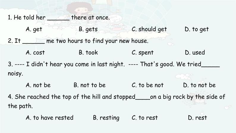 初中英语语法-非谓语动词010