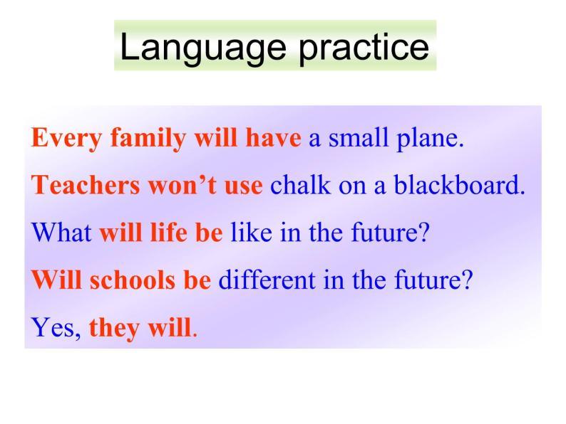 外研七年級下冊第四模塊第三節 Language in use精品課件04