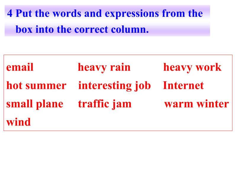 外研七年級下冊第四模塊第三節 Language in use精品課件09