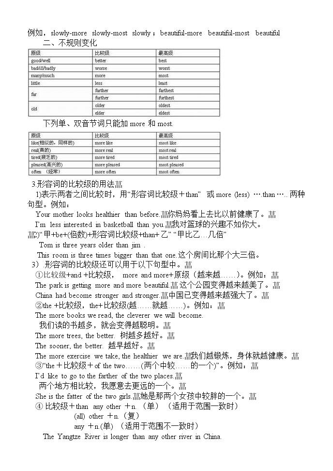 英語語法專項訓練形容詞05