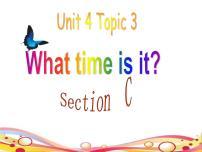 初中英語仁愛科普版七年級上冊Unit 4 Having funTopic 3 What time is it now?教學課件ppt