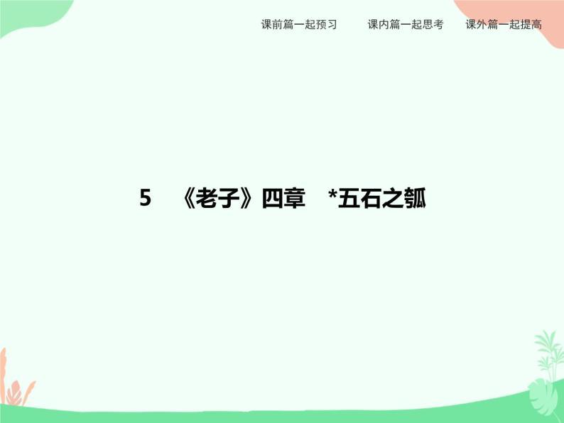 5 《老子》四章 五石之瓠 PPT课件01