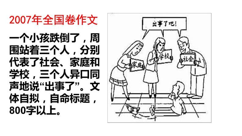 漫畫作文如何審題 課件-2020-2021學年高中語文寫作方法指導03