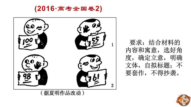 漫畫作文如何審題 課件-2020-2021學年高中語文寫作方法指導06
