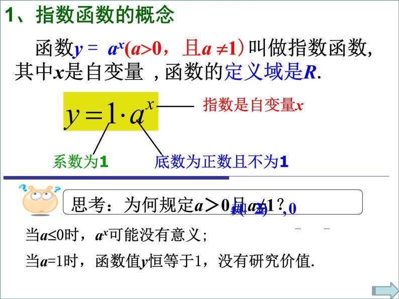 高一数学人教A版必修1课件:2.1.2 指数函数及其性质(1)08