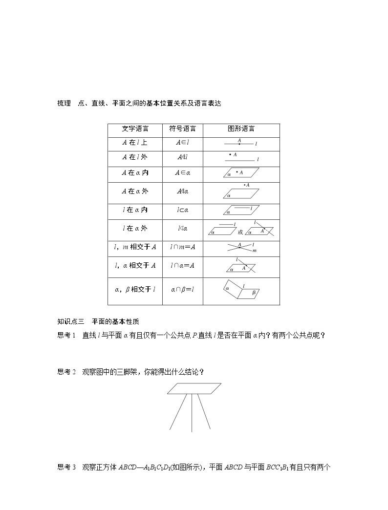 20-21版:2.1.1 平面 导学案02