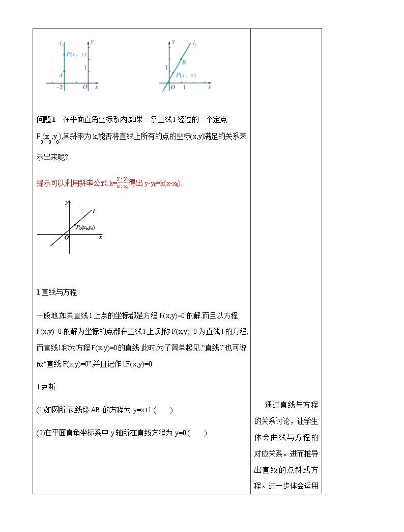 【新教材精創】2.2.2 直線的方程(第1課時)教學設計-人教B版高中數學選擇性必修第一冊03