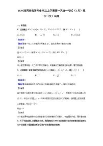 2020屆河南省洛陽市高三上學期第一次統一考試(1月)數學(文)試題(解析版)
