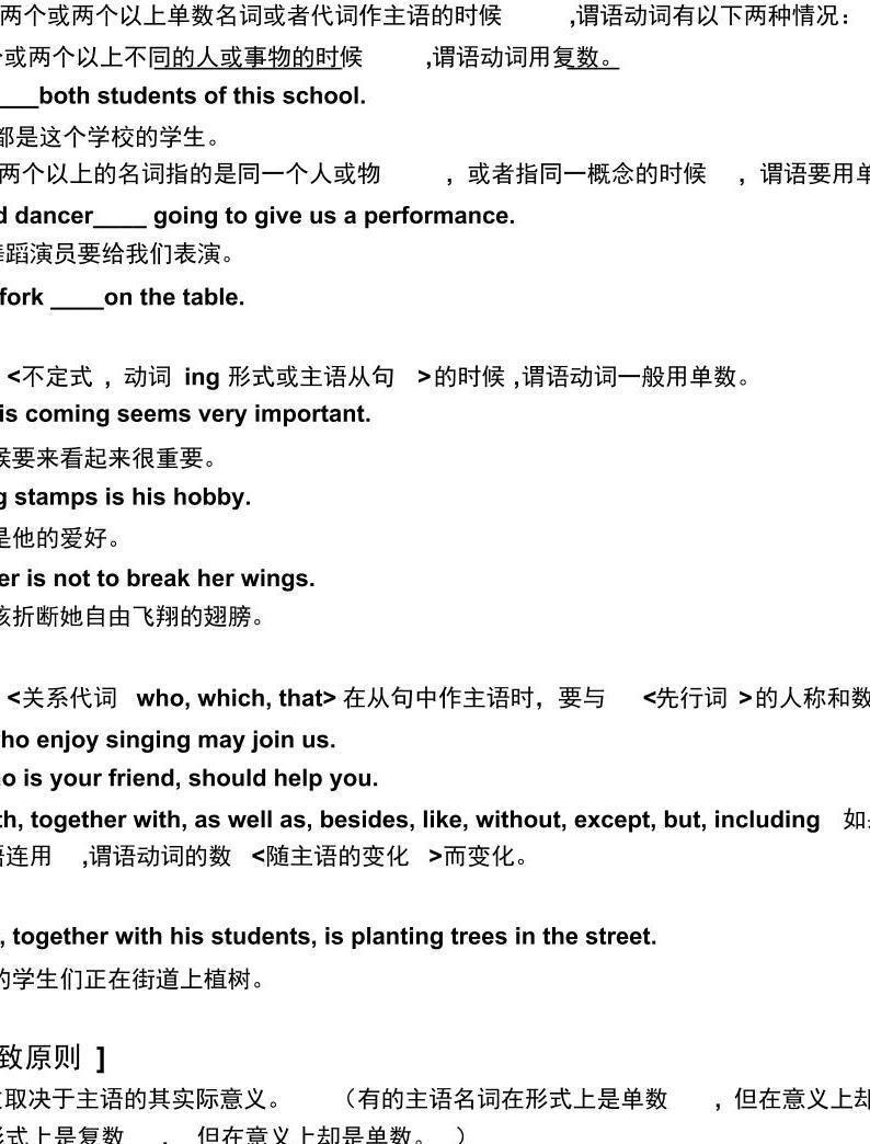 高考英语一轮复习--主谓一致(附答案)01