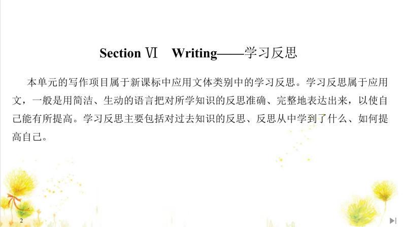 北师大(2019)版英语必修第三册课件:Unit 9 Learning Section Ⅵ Writing——学习反思02