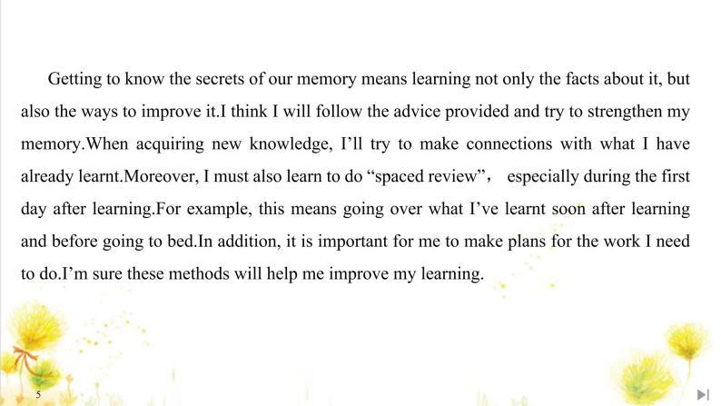 北师大(2019)版英语必修第三册课件:Unit 9 Learning Section Ⅵ Writing——学习反思05