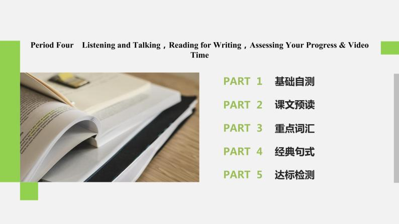 Unit 5 Languages around the world  Period Four Listening and Talking,Reading for Writing,Assessing Your Progress & Video Time精品課件02